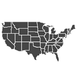 Map of America with states outlined