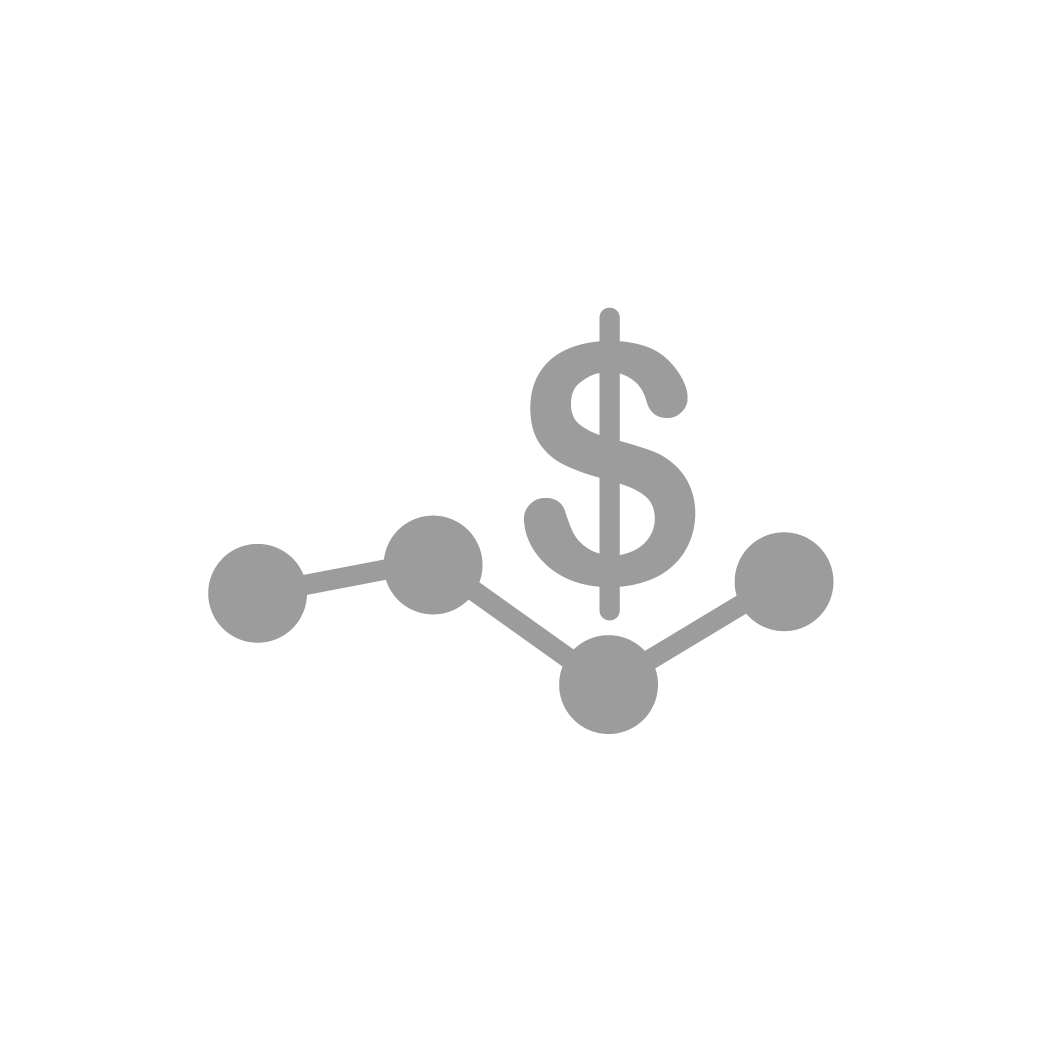 Icon of money and line chart