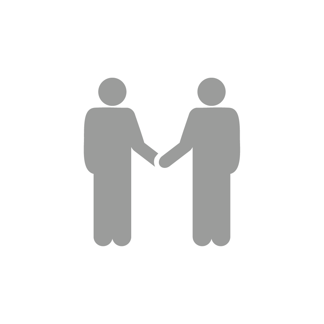 Icon of two people holding hands