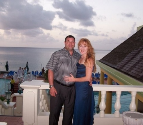 Cindy and Lee in St Lucia