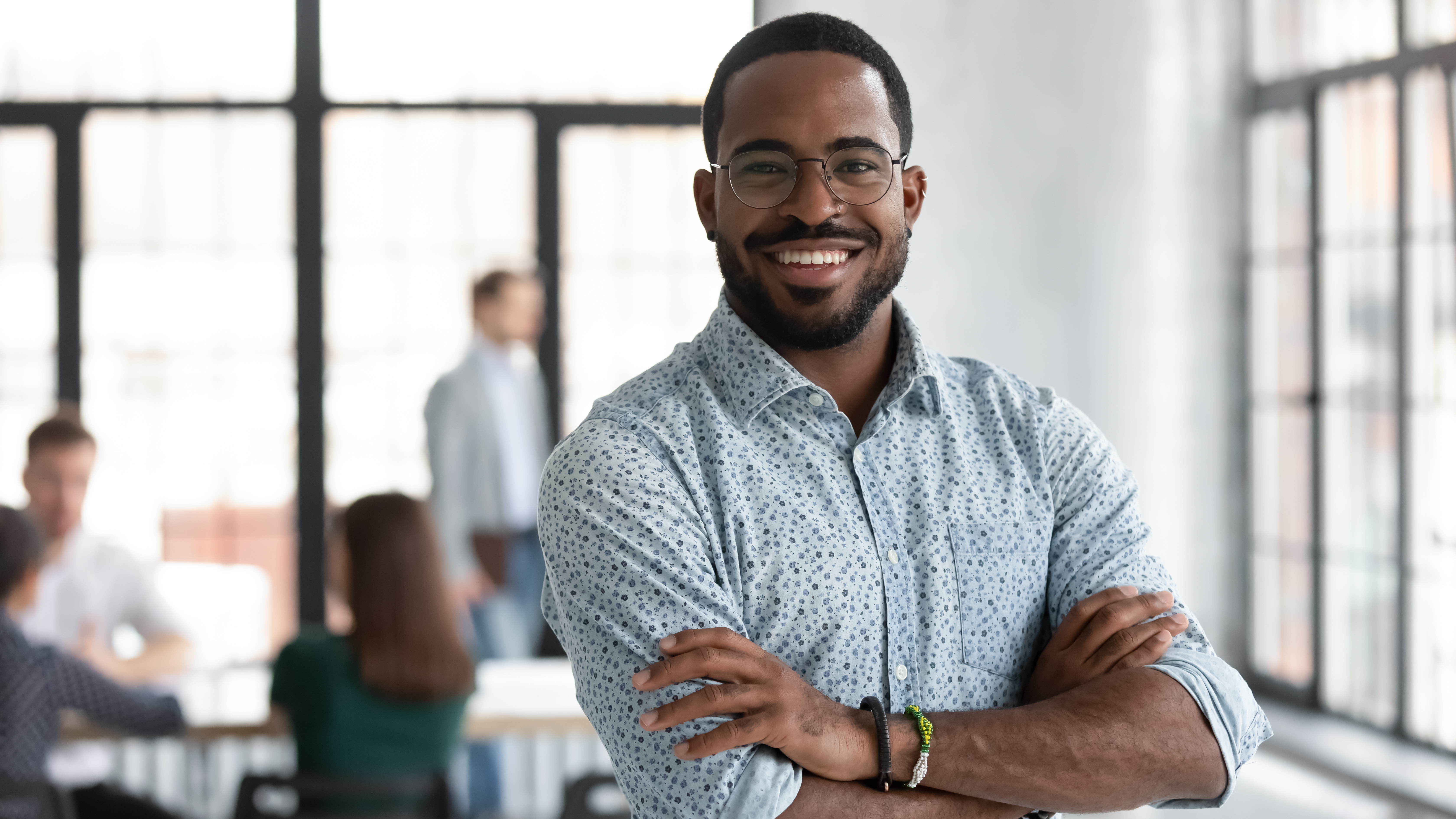 Ceo smiling in office